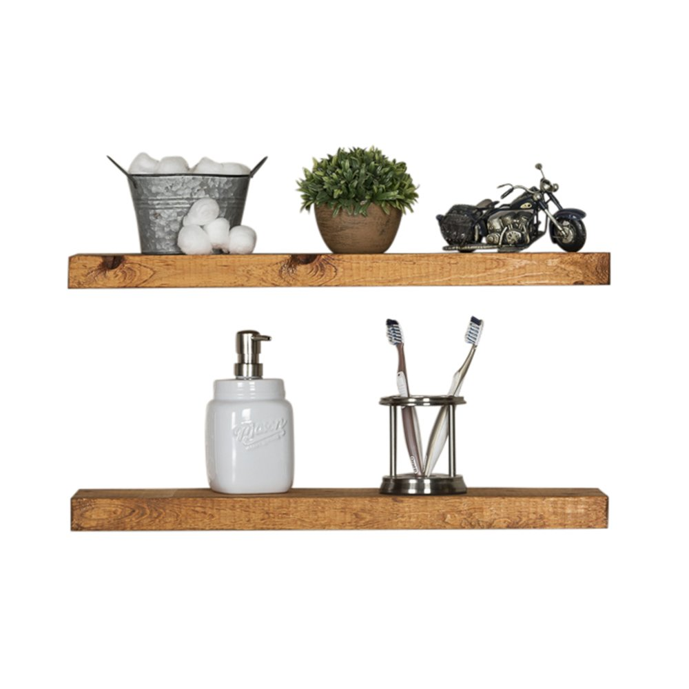del hutson designs rustic pine floating shelves walnut the shelf company inch home kitchen cube storage unit wall living room hanging entryway bedside table ikea small desk
