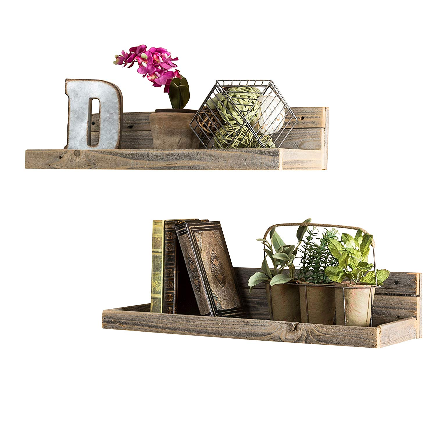 del hutson designs usa handmade barnwood reclaimed sodzy floating shelf shelves set natural home kitchen cabinet drawers for dishes vintage cast iron brackets wall closet how deep
