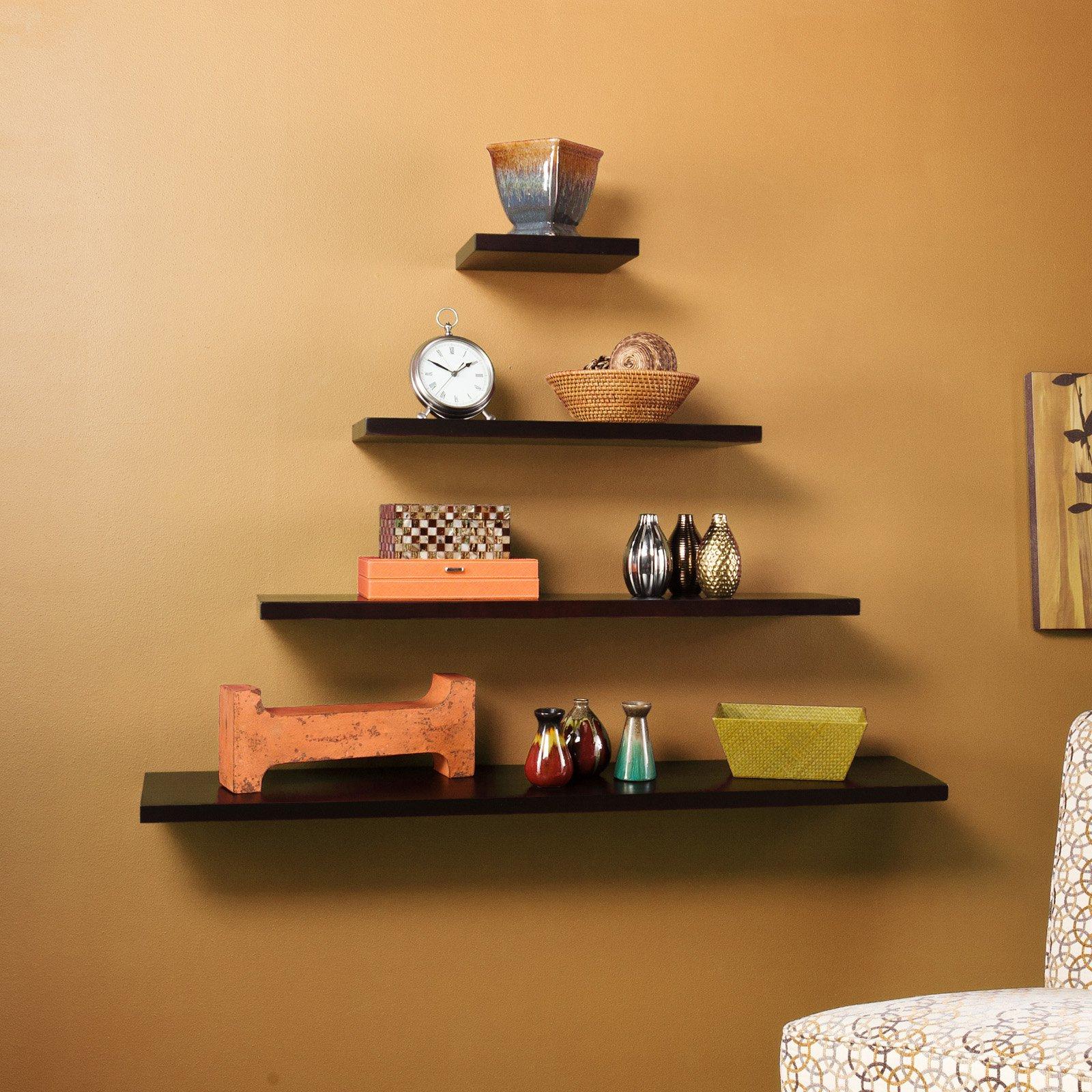denver floating shelf espresso black brown shelves ikea cubby storage kitchen wall holders cool shoe cabinet diy desk plans rack built into metal and wood leaning bookshelf