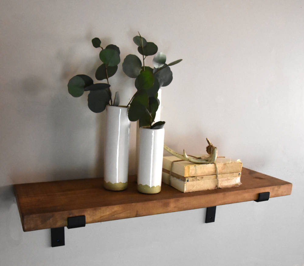 depth rustic industrial floating shelves shaped etsy fullxfull black corner shelving unit lack wall shelf weight limit command strips ikea pipe kitchen extra wide office table
