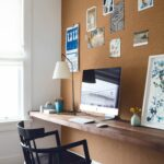designer secrets chic ways trim your decorating budget diy floating shelves office design katie martinez san francisco workspace shelf desk with cork wall threshold one echogear 150x150