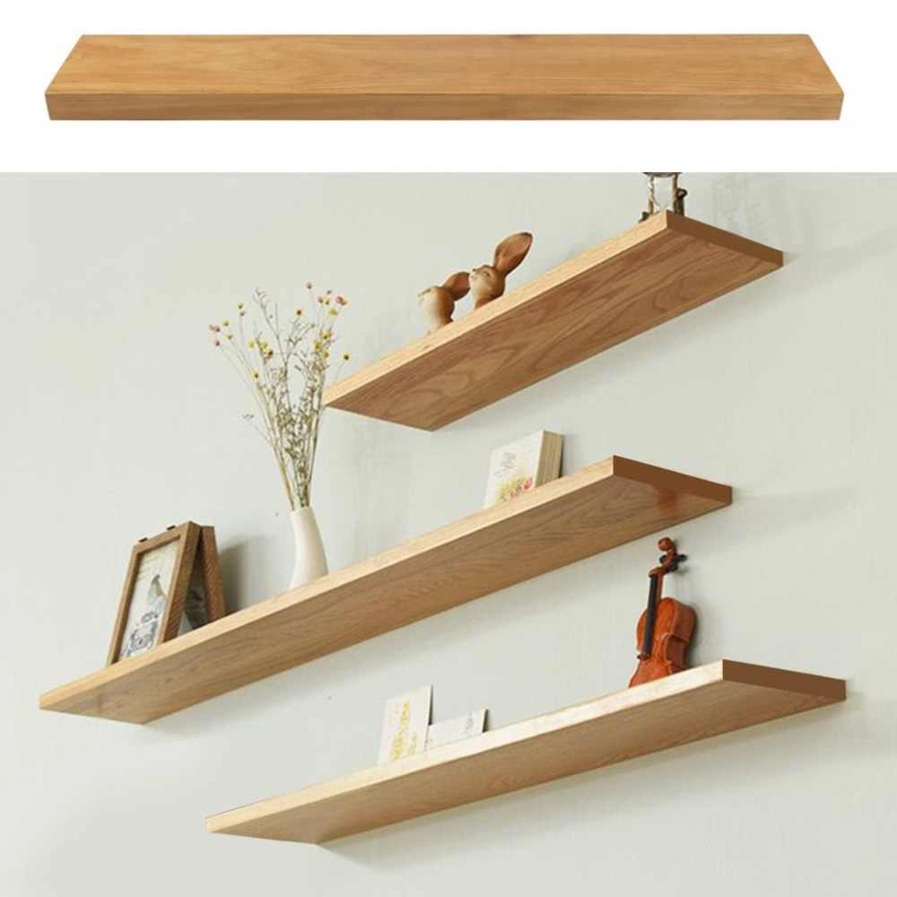 detail feedback questions about high quality wooden floating shelves multifunctional pine wood wall shelf modern display rack kitchen stand with drawers trestle table kmart can