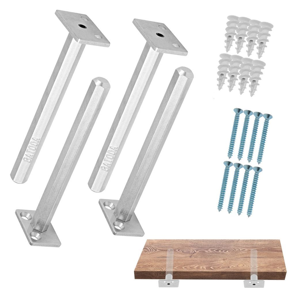 details about floating shelf bracket pcs galvanized steel concealed support brackets blind supports hidden for wood shelves screws oak leaning diy entryway bench garage cabinets