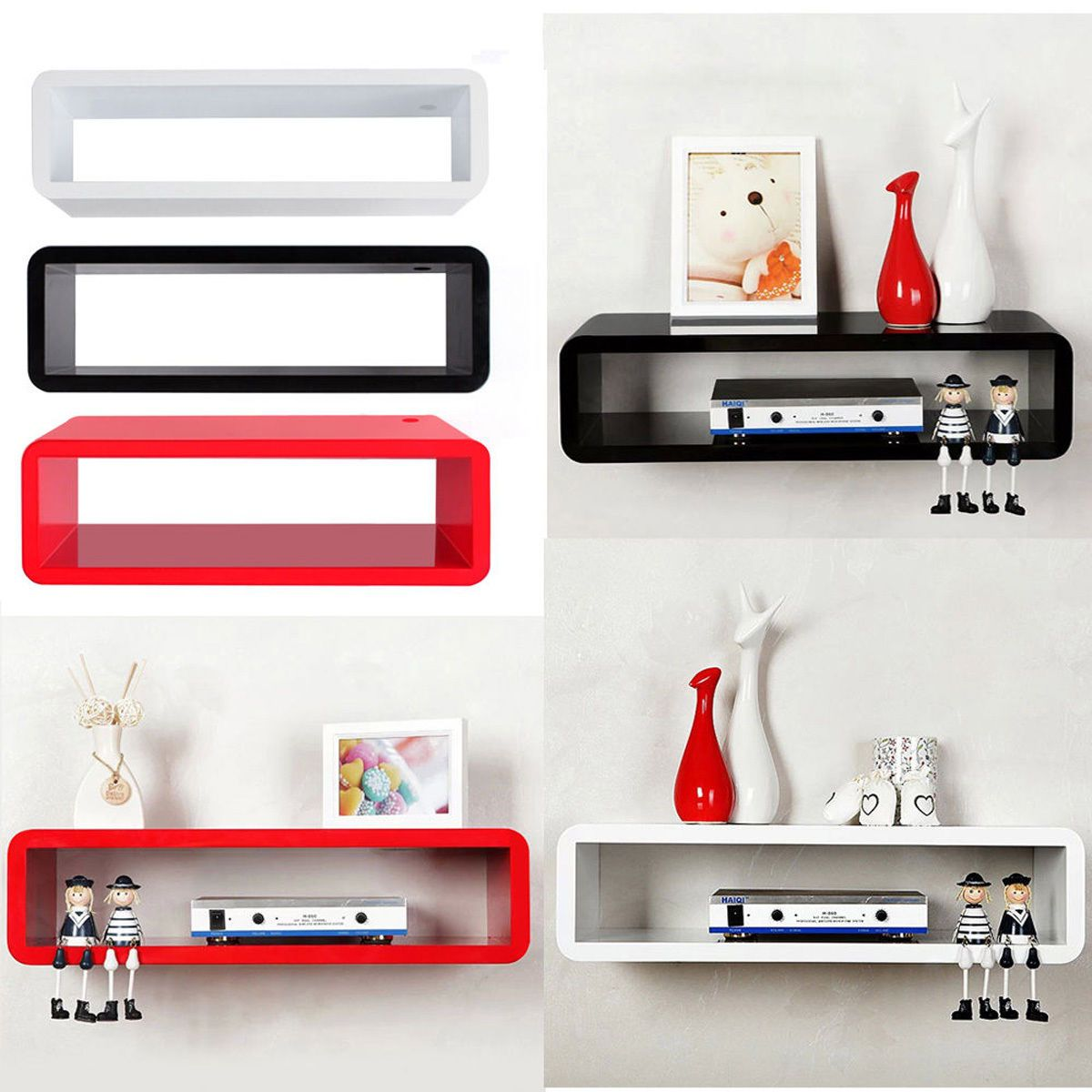 details about floating wall mount shelf cube sky box dvd hifi unit shelves corner with drawer office chair without wheels kallax bookshelf mitre ballarat modern mounted table