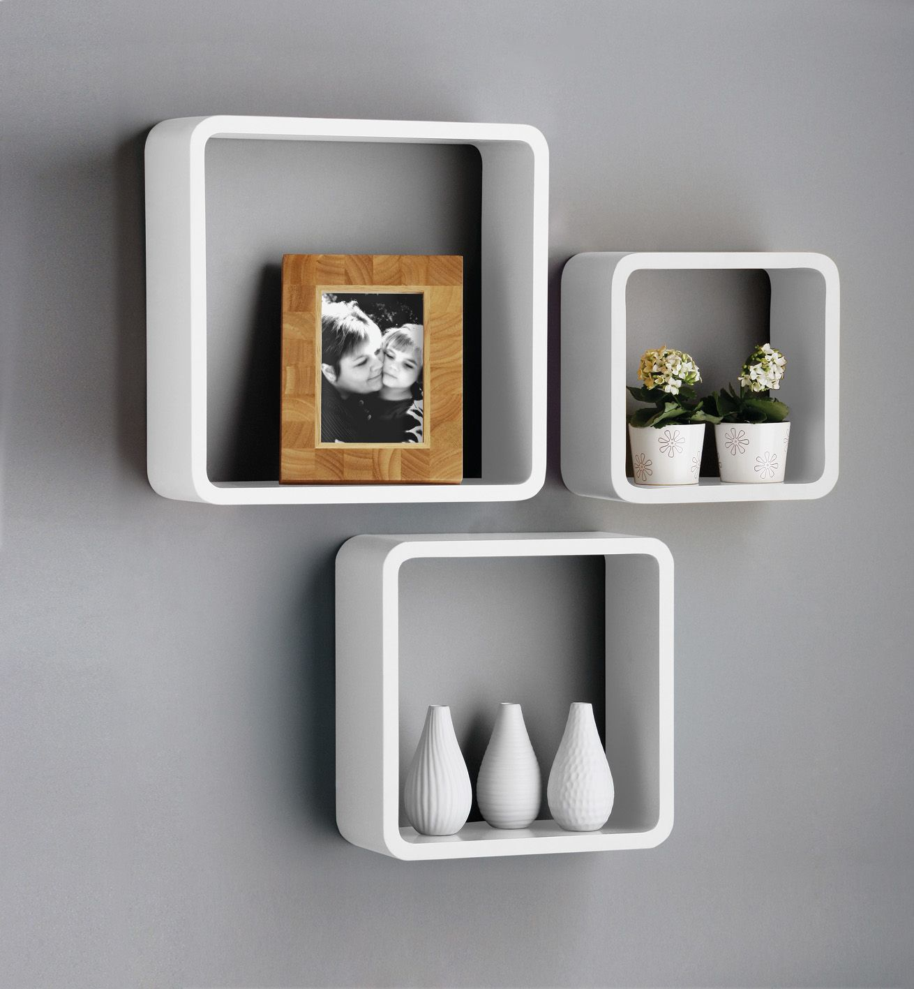 details about new set white black square floating cube wall oak box shelves storage shelf cubes foldable desk hidden cable mount iron tall freestanding antique looking brackets