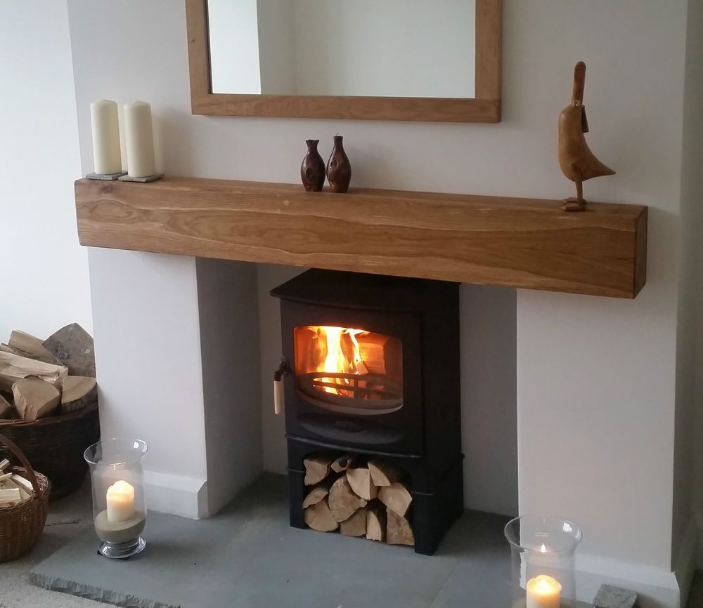 details about oak beam fireplace mantle floating shelf mantel solid wood characterful shaped sanded home furniture diy fireplaces accessories mantelpieces surrounds ikea hacks
