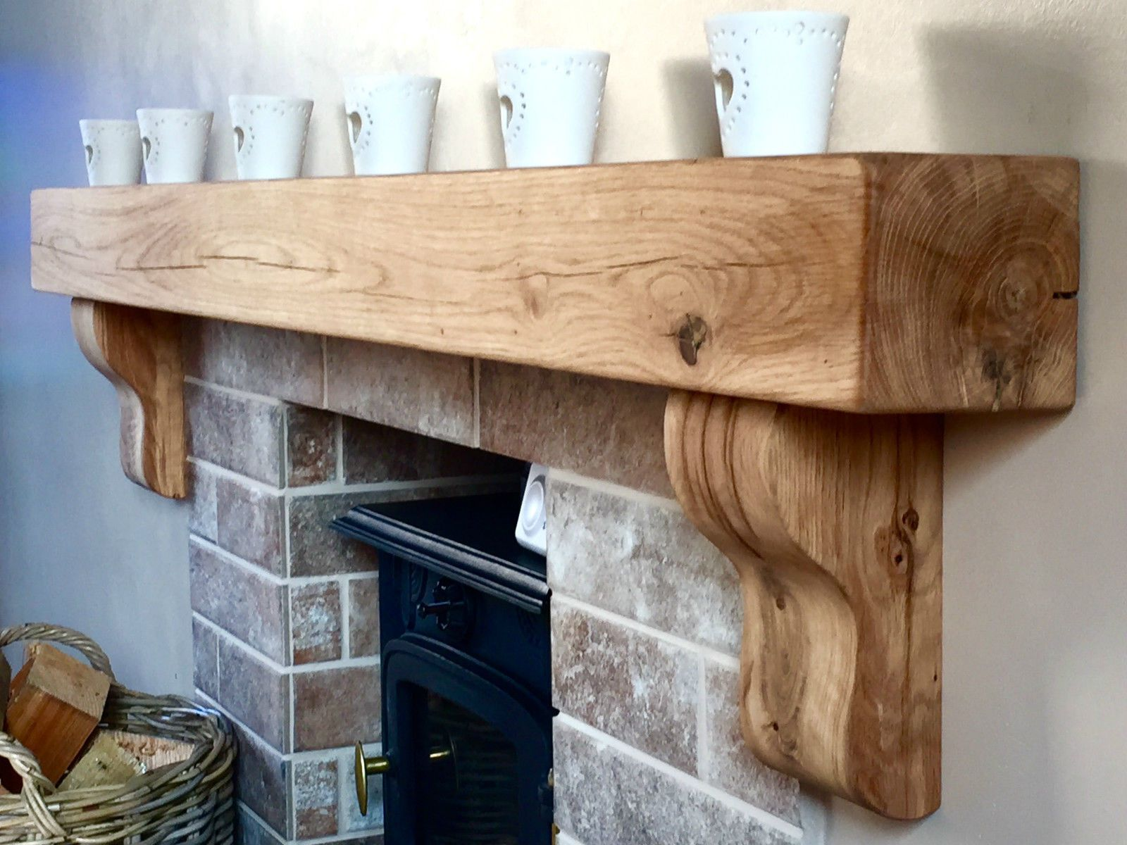 details about oak beam with corbels floating mantel shelf solid fireplace bathroom small corner wooden kitchen hanging hooks canadian tire vacuum closed shelves rustic bath shower