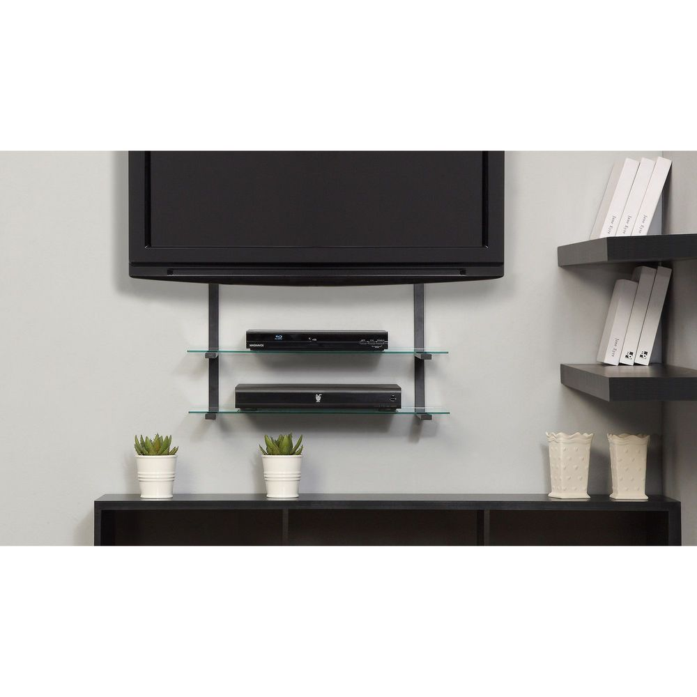 details about wall mount bracket for tvs vesa floating glass shelves entertainment center modern flat screen lcd organize dvd xbox white media armoire wooden kitchen trolley