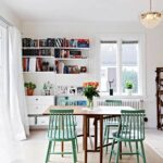 dining room floating shelf houzz bookshelves living shelves libraries library pipe built vinyl tile cement inch deep small cabinet for cable box and dvd player coat wall hook rack 150x150