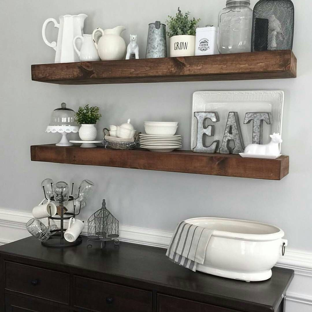 dining room floating shelves myneutralnest decorating kitchen corner shelf design mirrored over the sink bathroom storage cabinet shelving support systems wall units brackets