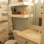 diy bathroom floating shelves building vanity white head screws kids shoe rack mounting drywall shelf decor shower brackets underlay for lino concrete floor desk with above 150x150