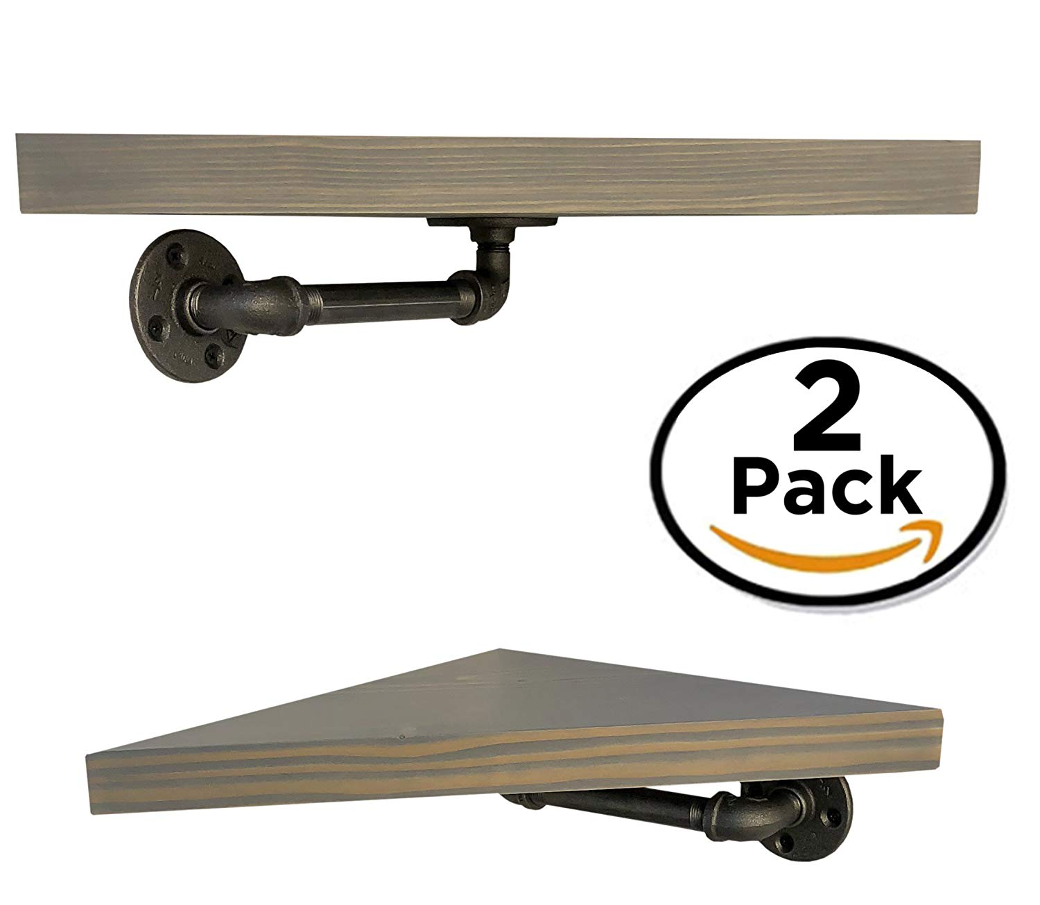diy cartel industrial pipe corner shelf brackets floating hardware only perfect for shelves and farmhouse vintage furniture wall mounted closet drawers rustic hanging shower