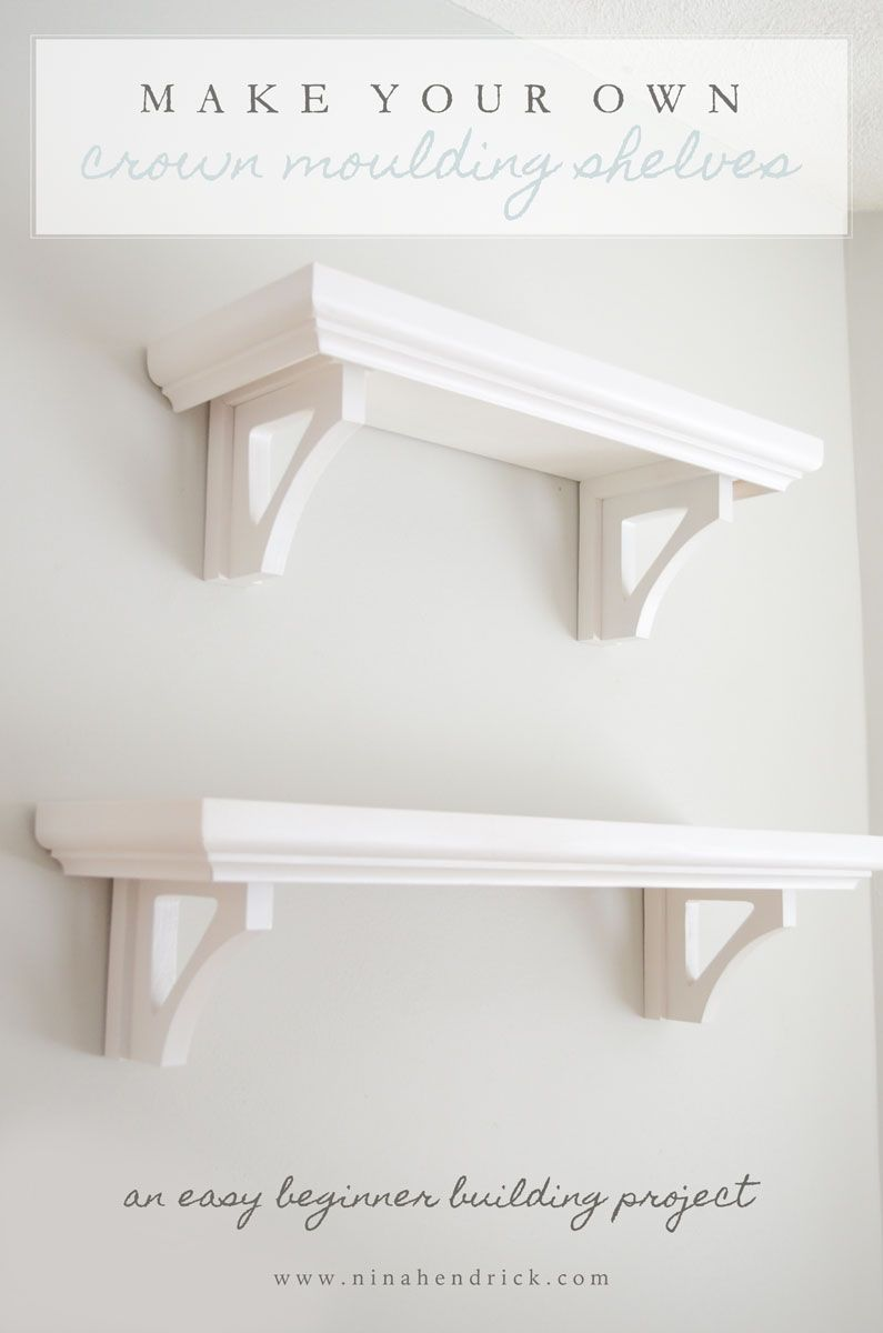 diy crown moulding shelves bloggers best ideas molding floating shelf plans learn how make these easy compact computer desks for home inch wood wall decorative fireplace mantels