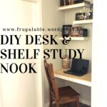 diy desk and floating shelves for study nook frugalable img over ikea mini bar cabinet simple bookcase design inch wide shelf unit cable box mount dvd ideas media stand with 150x150