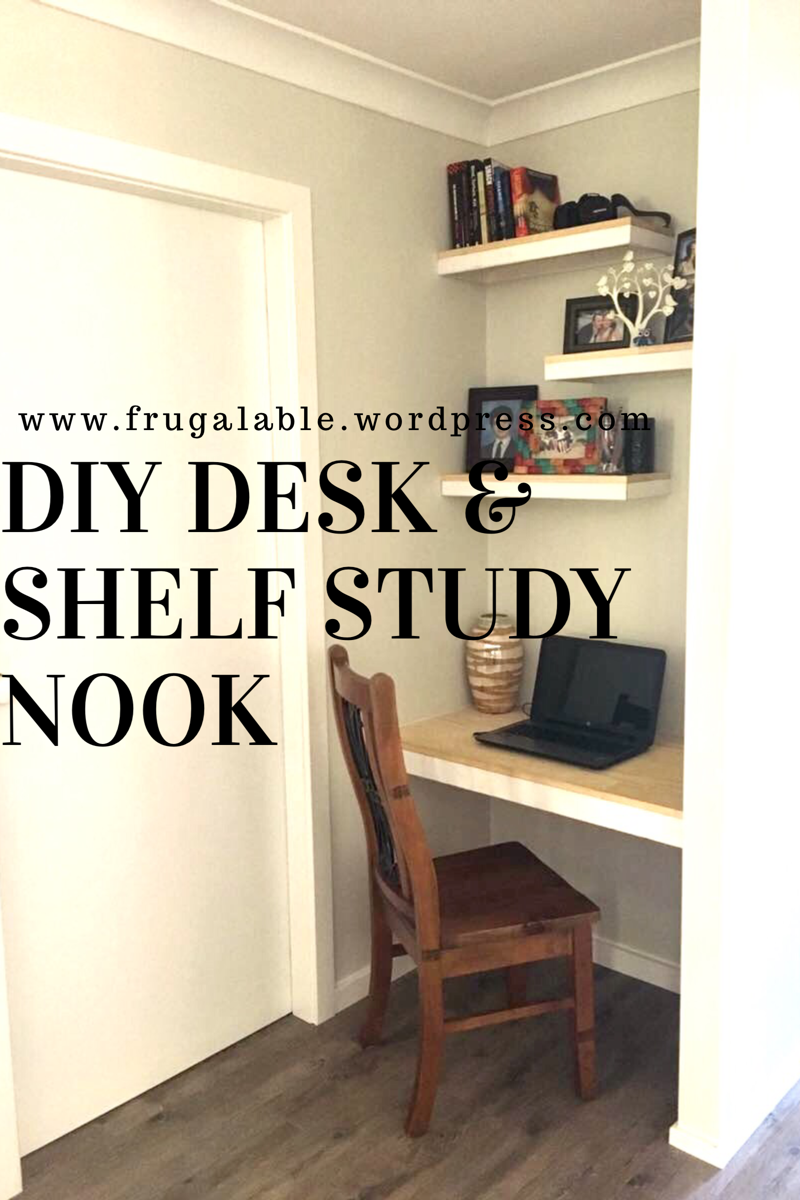 diy desk and floating shelves for study nook frugalable img over ikea mini bar cabinet simple bookcase design inch wide shelf unit cable box mount dvd ideas media stand with