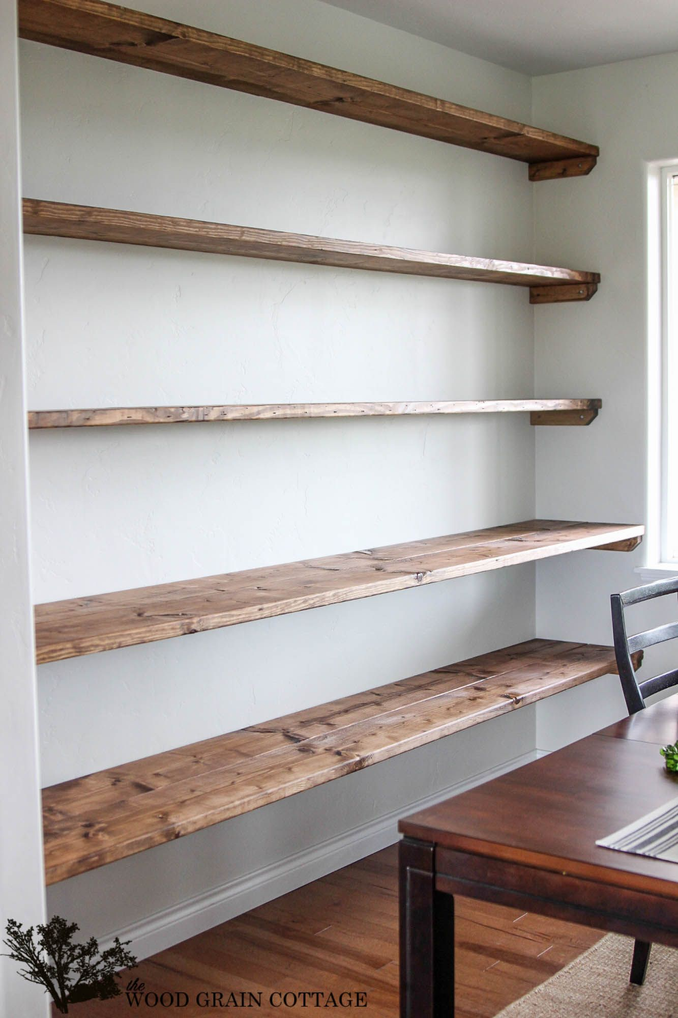 diy dining room open shelving new home furniture projects extra large floating shelves over year ago wrote post about how wanted big wall our and for been patiently waiting tower