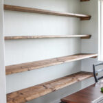 diy dining room open shelving the wood grain cottage floating shelves kitchen closet cabinets shelf pegs putting nails walls glass over bathroom sink bookcase white wall mounted 150x150