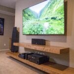 diy entertainment center ideas and designs for your new home floating shelf unit shelves shoe dresser cabinet portable kitchen reclaimed wood desk black metal brackets washroom 150x150