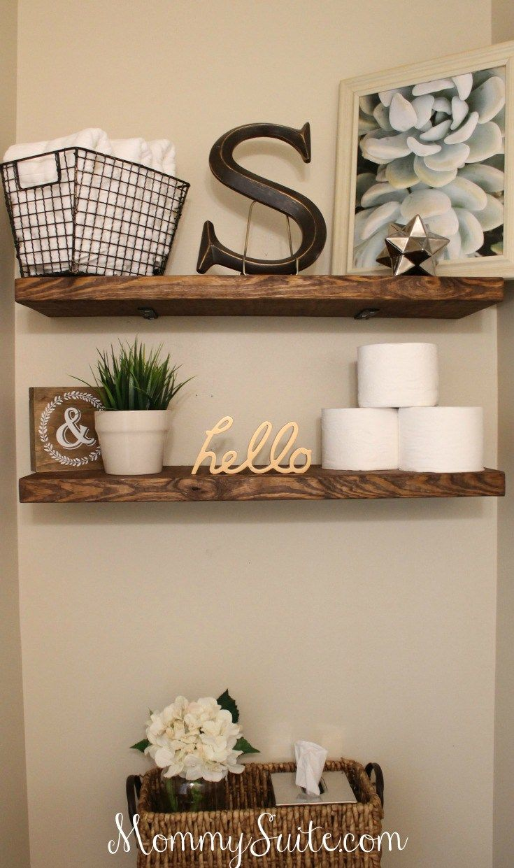 diy faux floating shelves demeure bathroom decor home love the simple styling these floor for bedroom black gloss shelf corner mounted accent shoe chest kitchen with large white