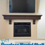 diy fireplace mantel shelf her tool belt plans floating create that room focal point you been dreaming about ribba shelves from ikea receiver wall top garage storage systems 150x150