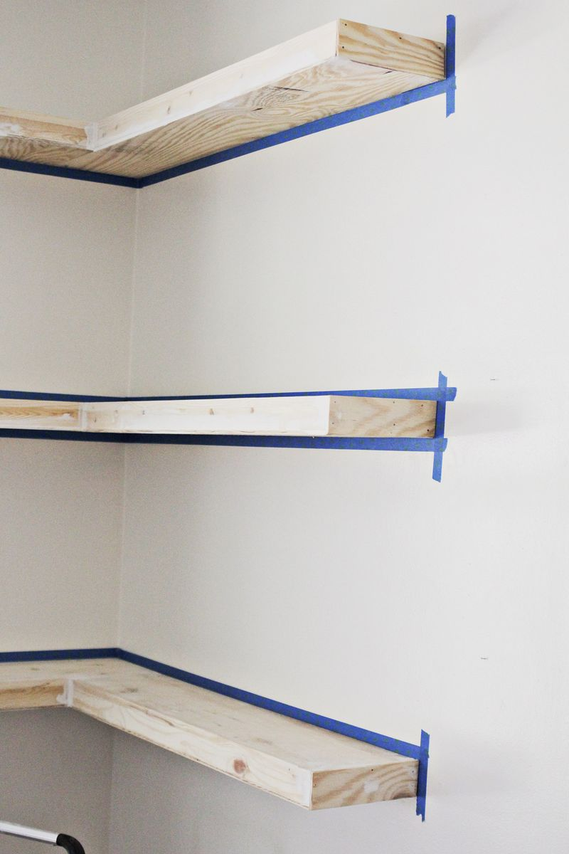 diy floating corner shelves beautiful mess shelf brackets spackle click through for more ikea open shelving unit wide hall tree lack wall red rustic wood ideas kmart shower caddy