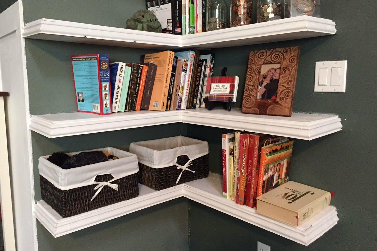 diy floating corner shelves bookshelf bedside shelf with hidden drawer ideas for small bedroom kitchen island cabinets seating long thin shoe rack kit self adhesive tile