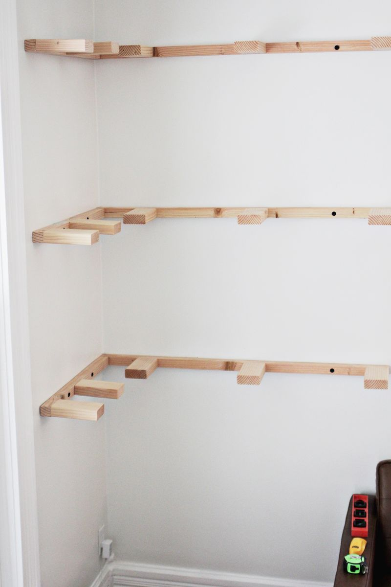 diy floating corner shelves misc build progress click through for more desk with bookcase wall mounted boot hanger concealed fixing brackets built shelf decorating ideas small