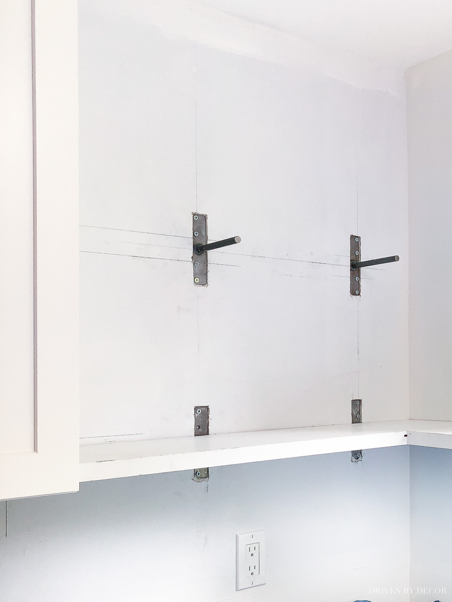 diy floating corner shelves our kitchen all the details brackets shelf these work perfectly for installing under cabinet hanging target ture round metal bookshelf home office