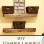 diy floating laundry room shelves home decor ideas poor very small space when you have family through lot needless say there are always and kitchen organization solutions bar 150x150