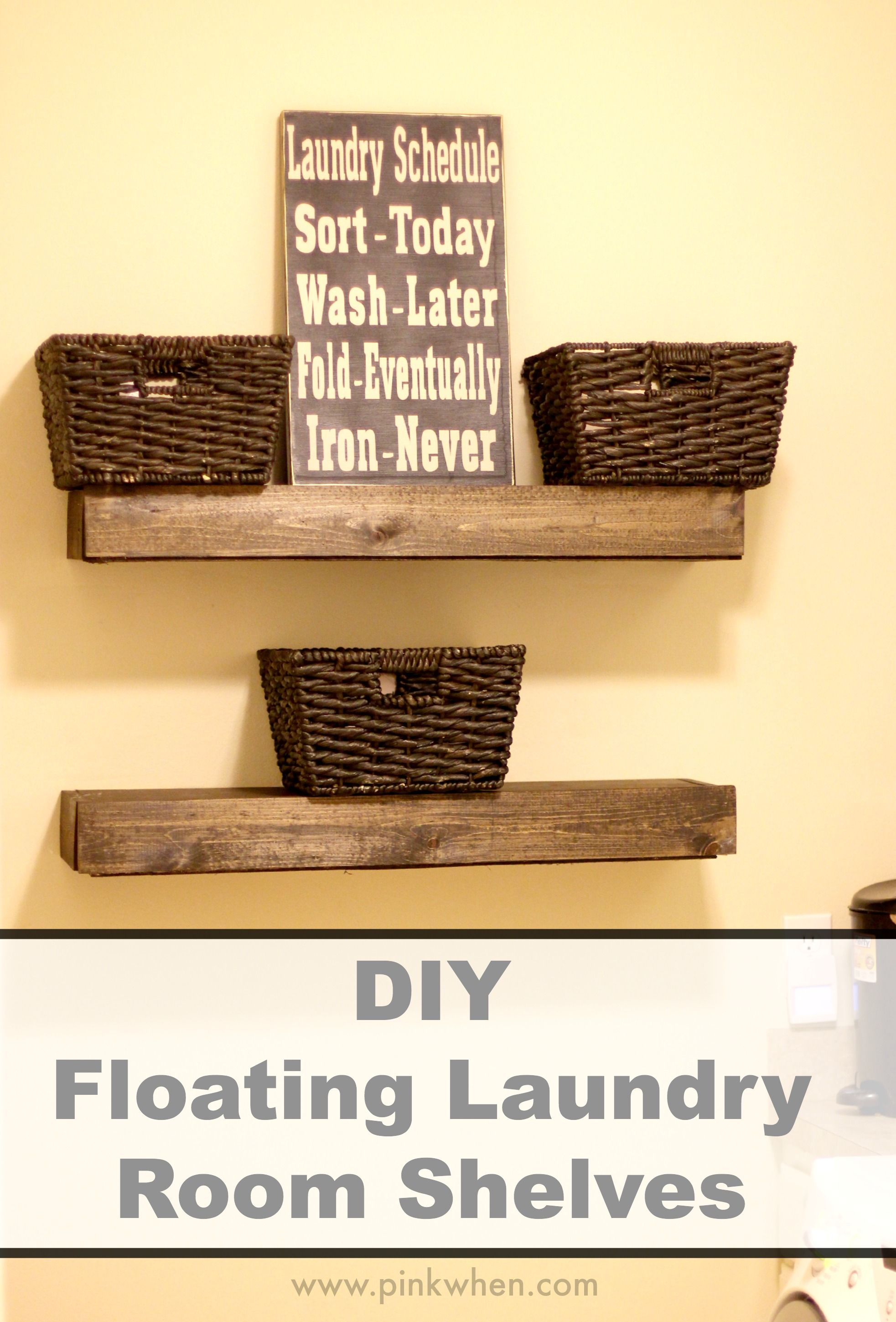 diy floating laundry room shelves home decor ideas poor very small space when you have family through lot needless say there are always and kitchen organization solutions bar