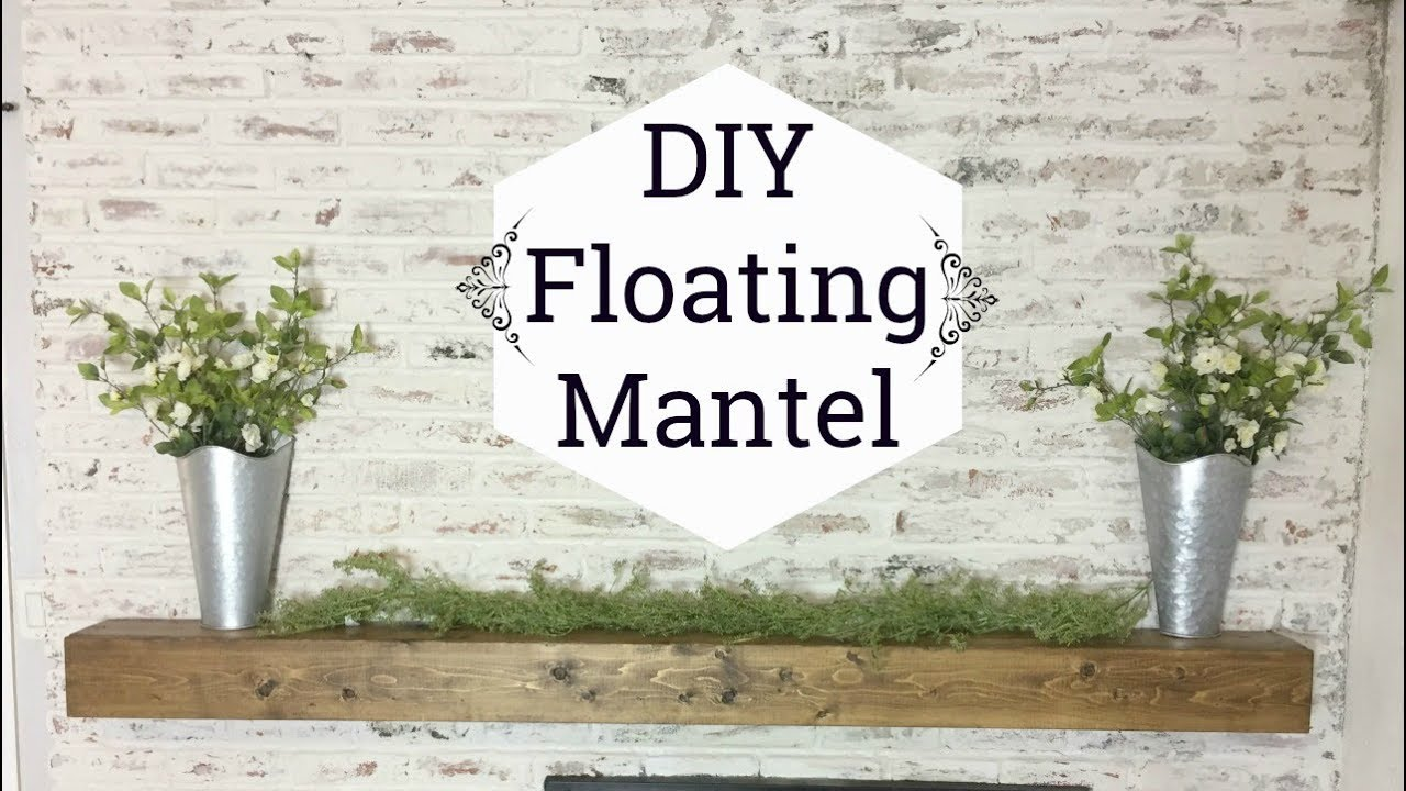 diy floating mantel shelf how make rustic wood weathered gray target threshold outdoor brackets kitchen box shelves cupboards for garage cherry wall removable hooks brick walls