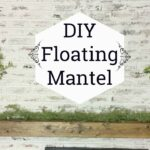 diy floating mantel shelf how make rustic wood wooden hall tree standing coat rack full wall shoe double sink vanity glass above bathroom large garage storage bins long shower 150x150