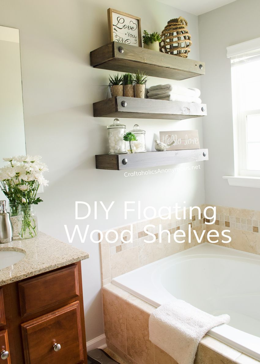 diy floating shelves best wood bathroom easy way storage and decor peg coat rack with shelf wall mounted home office furniture modern media glass cute built closet systems ikea