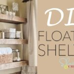 diy floating shelves for living room shanty chic shelf wall linoleum tiles kitchen with baskets rustic standing multiple tall white corner bookcase making wood old fireplace 150x150
