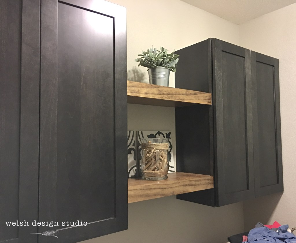 diy floating shelves for the laundry room welsh design studio after with cabinets ikea wall shower screens perth cast iron brackets shoe storage closet organizer small shelf ideas
