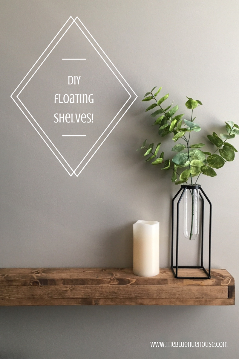 diy floating shelves for the master bedroom blue hue house reverie distressed gray bookshelves ladder shelf unit ikea inch glass hat and coat rack with furniture shelving units