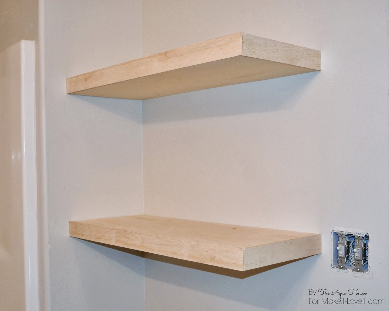 diy floating shelves great storage solution office closet without brackets makeit loveit sneaker wall mount mounting something heavy the hooks for clothes silver metal coat rack