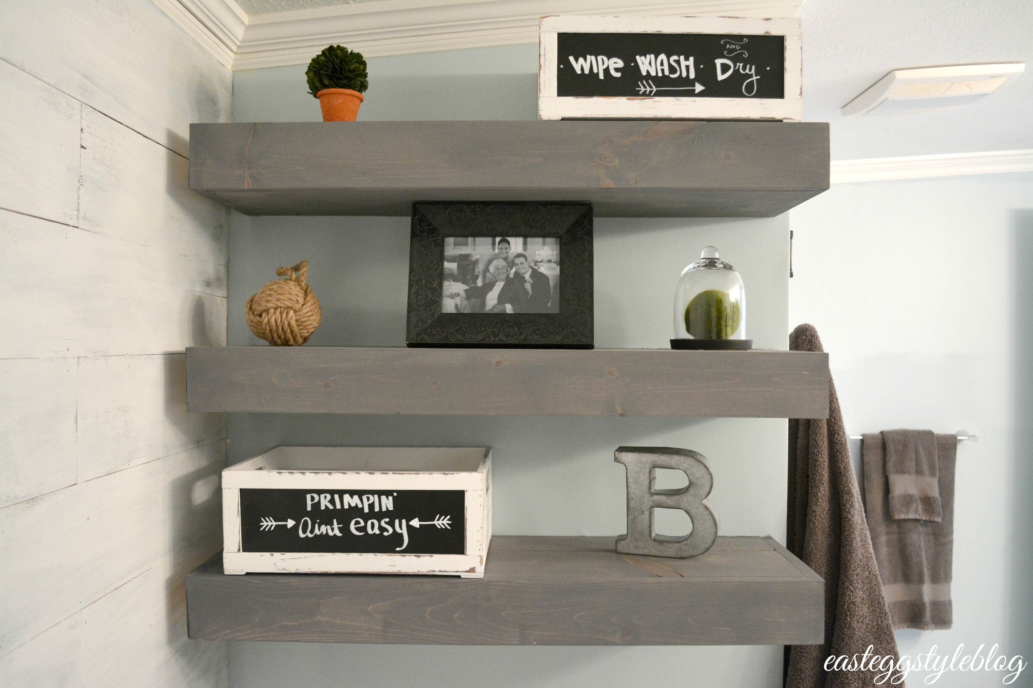 diy floating shelves grey wash rod iron wall coat rack mounted garage storage home office cabinet design black glass bathroom shelf study desk with bookshelf pine wood and
