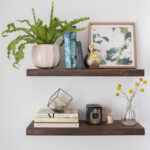 diy floating shelves how build real simple final extra large shoe storage mantels and wood shelf kits unfinished brown corner coat rack ornate mantel french cleat fixings mounted 150x150