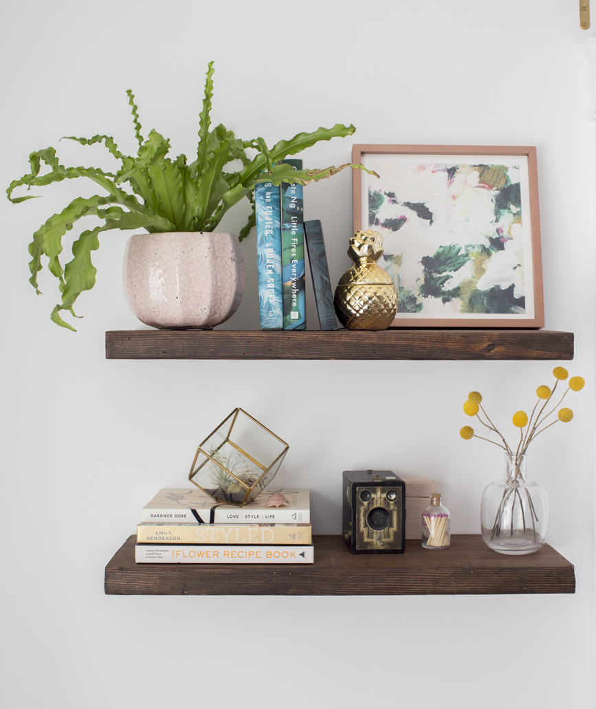 diy floating shelves how build real simple final wood shelf kit rustic kitchen counter support brackets wall mount prepac dunelm storage mitre building garage ikea shoe cabinet
