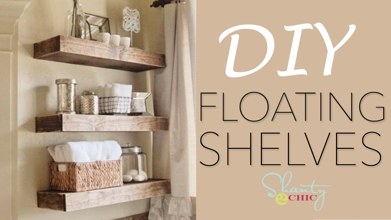 diy floating shelves how make wood build your own reclaimed wall shelf white wrought iron xbox one mount peel and stick flooring concrete metal ladder canadian tire brackets