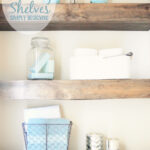 diy floating shelves how measure cut and install bathroom are really easy make they the perfect small shelf for books kitchen cupboards wood mantel supports shower brackets garage 150x150