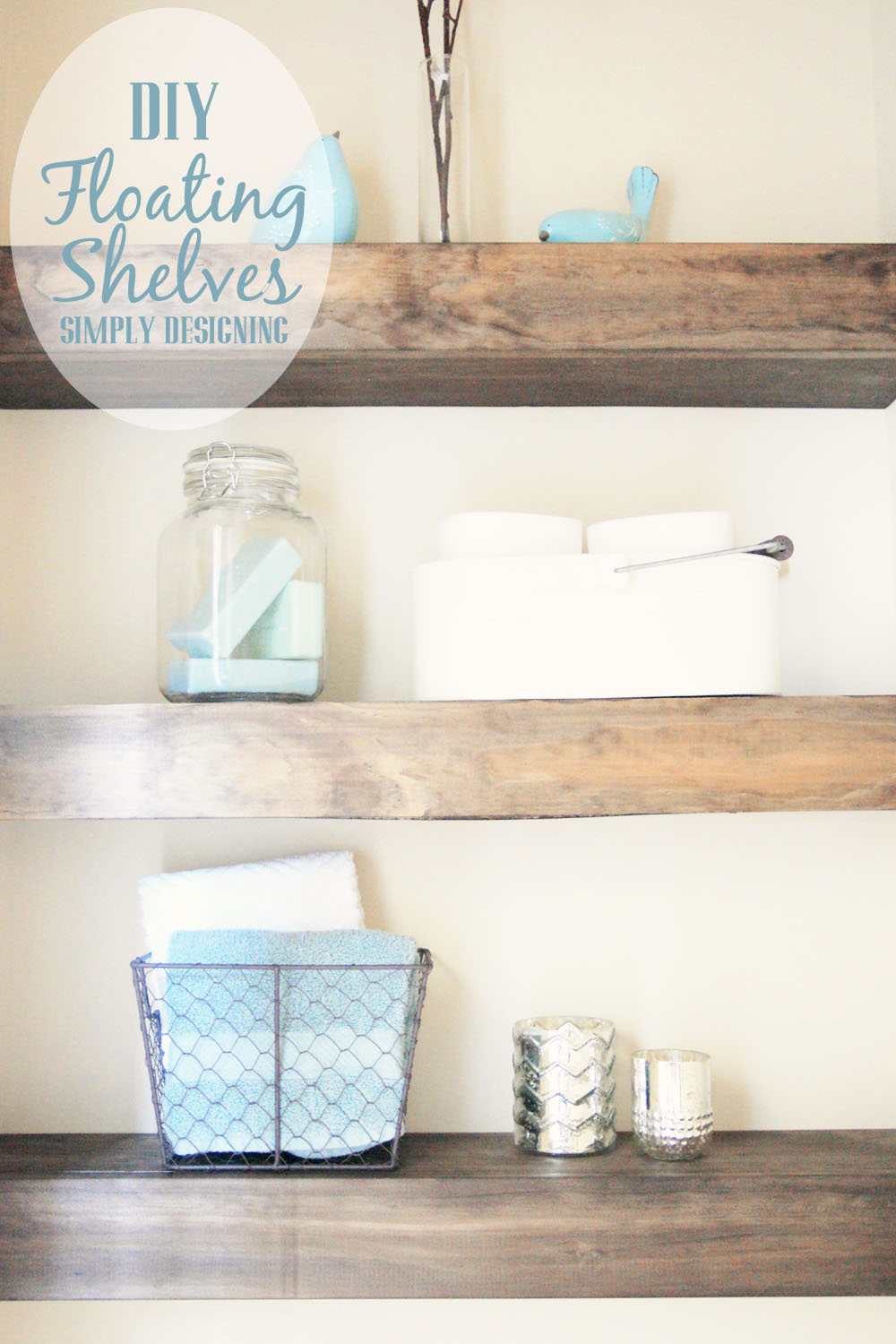diy floating shelves how measure cut and install bathroom are really easy make they the perfect small shelf for books kitchen cupboards wood mantel supports shower brackets garage