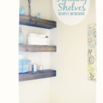 diy floating shelves how measure cut and install bathroom are really easy make they the perfect white head screws building vanity shelf decor garage wire shelving systems mounting 150x150