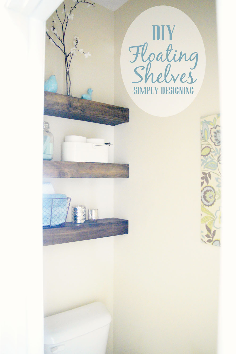 diy floating shelves how measure cut and install bathroom are really easy make they the perfect white head screws building vanity shelf decor garage wire shelving systems mounting