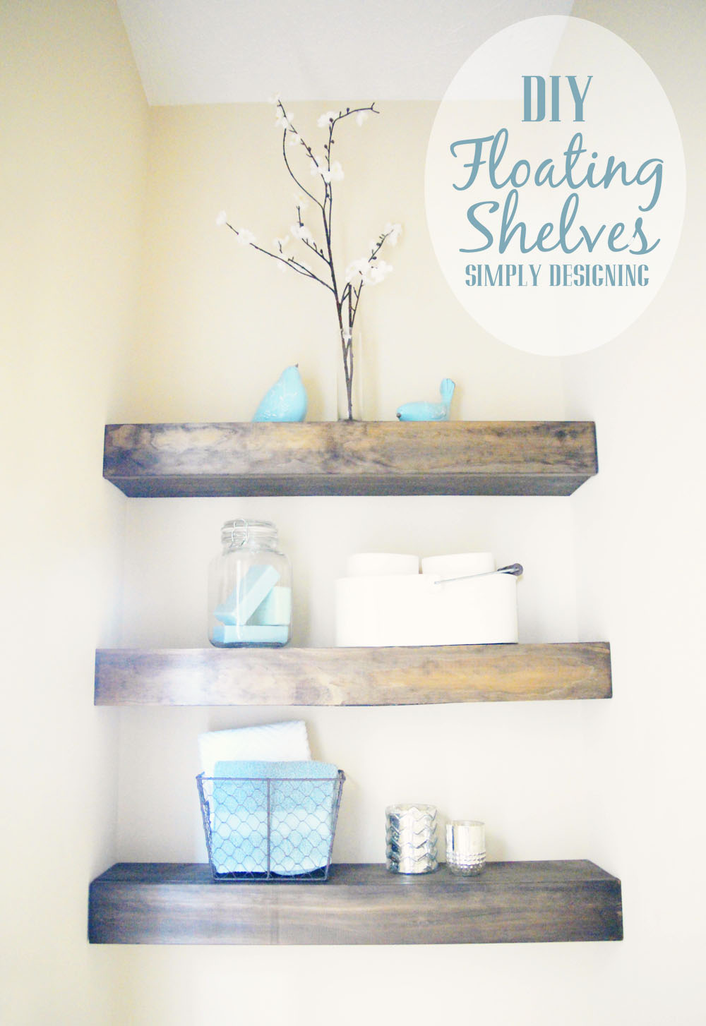 diy floating shelves how measure cut and install wall bathroom are really easy make they the perfect woodworking plans pdf garage shelving systems walnut cube space between top