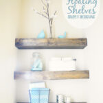 diy floating shelves how measure cut and install wood shelf bathroom are really easy make they the perfect rustic brackets hardware white styling open countertop support small 150x150
