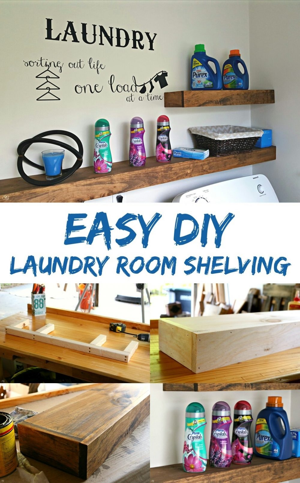 diy floating shelves installation laundry room freshen your with this easy shelf project learn how pantry spacing display ideas cherry wall hardwood mantels glass dvd brackets