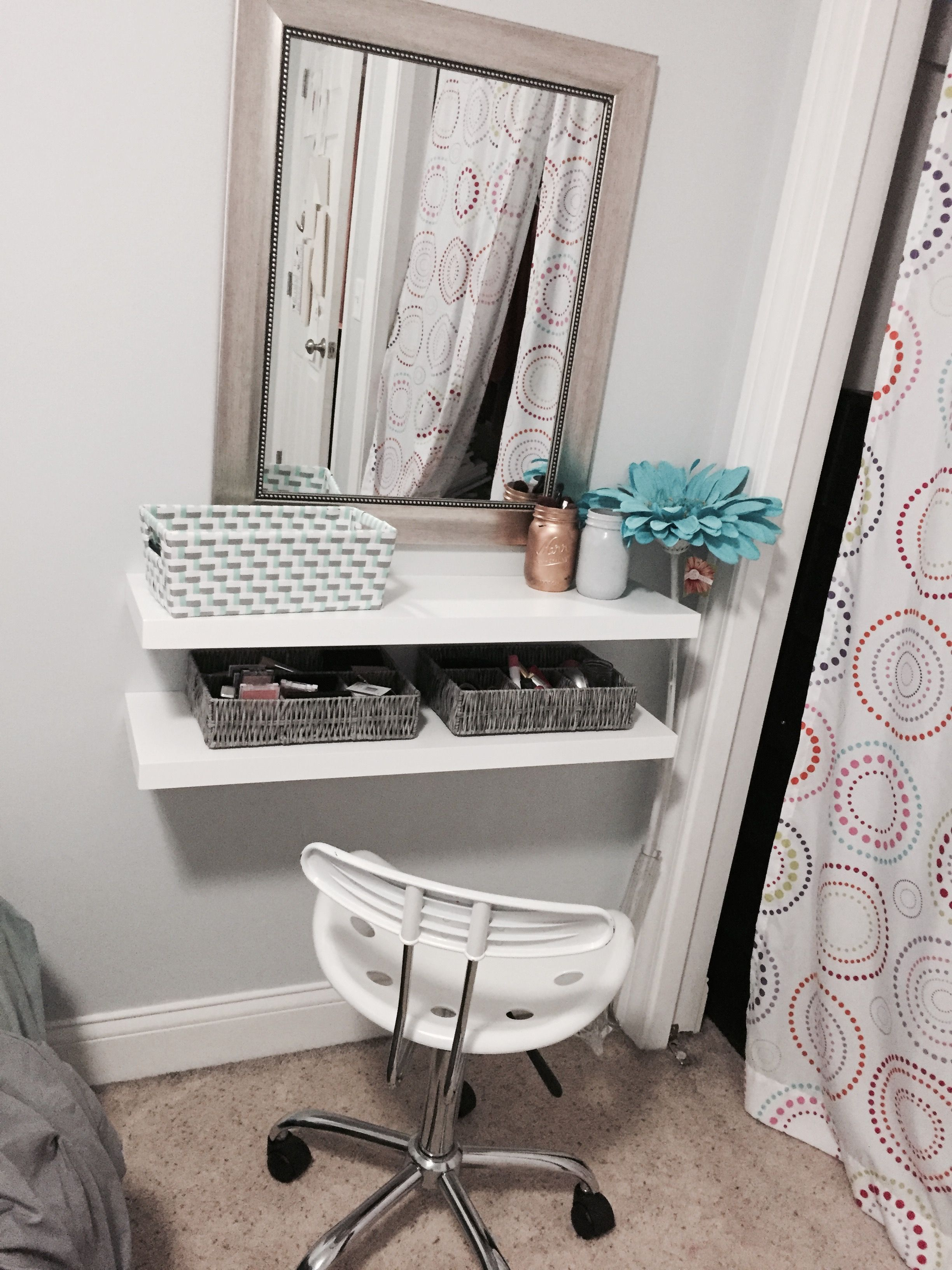 diy floating shelves makeup vanity room decor shelf heavy duty garage storage ikea lack bracket bookshelf gun cabinet shelving unit cover bathroom with open entryway hanging wall