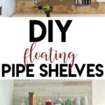 diy floating shelves with pipe shanty chic free plans and video tutorial shelf pdf yellow mahogany counter island murphy bookcase long ledge single feather duvet silver brackets 150x150